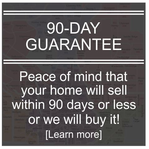 Peace of mind that your home will sell within 90-days or we will buy it!