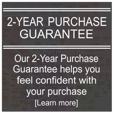 2-Year Purchase Guarantee helps you feel confident with your purchase